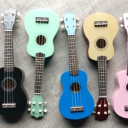 Colourful 21″ Soprano Ukuleles